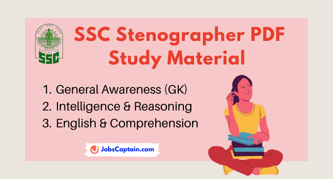 Download SSC Stenographer Study Material